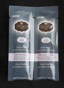 Photo of Chia Seed Oil Volumizing Shampoo & Conditioner sample from Hask Beauty