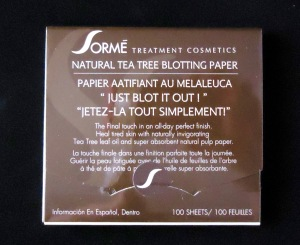 "Photo of ""Just Blot It Out!"" Natural Tea Tree Blotting Paper from Sorme Treatment Cosmetics"