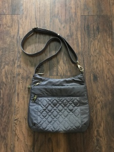 "Photo of Anti-Theft Signature Quilted Expansion Crossbody in ""Smoke"" from Travelon Bags"