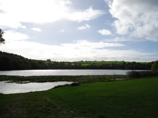 The lake on the grounds