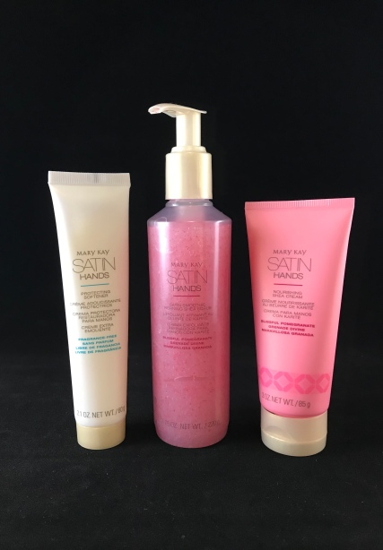 Photo of Limited Edition Blissful Pomegranate Satin Hands Pampering Set from Mary Kay